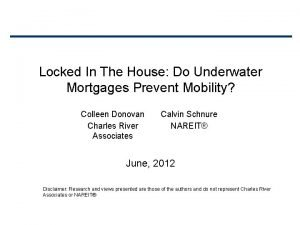 Locked In The House Do Underwater Mortgages Prevent