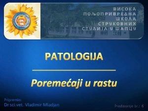 Pripremio Dr sci vet Vladimir Mladjan Predavanje br