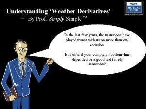 Understanding Weather Derivatives By Prof Simply Simple TM