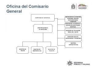 Oficina del Comisario General COMISARIO GENERAL DIRECTOR GENERAL