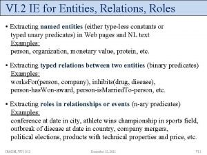 VI 2 IE for Entities Relations Roles Extracting