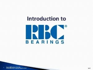 Introduction to 1 Contains RBC Proprietary Information 2018