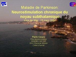 Maladie de Parkinson Neurostimulation chronique du noyau subthalamique