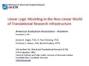 Linear Logic Modeling in the NonLinear World of