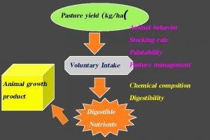 Pasture yield kgha Animal behavior Stocking rate Palatability