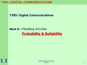 T 305 DIGITAL COMMUNICATIONS T 305 Digital Communications