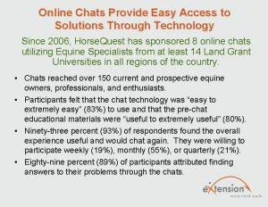 Online Chats Provide Easy Access to Solutions Through