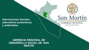 Intervenciones Sociales alternativas productivas y ambientales INFORME DE
