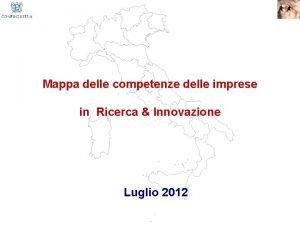 Mappa delle competenze delle imprese in Ricerca Innovazione