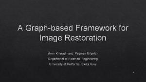 A Graphbased Framework for Image Restoration Amin Kheradmand