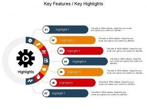 Key Features Key Highlights 02 Highlight 3 03