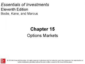 Essentials of Investments Eleventh Edition Bodie Kane and