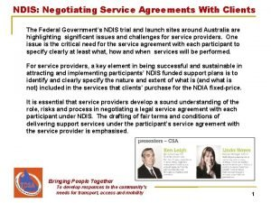 NDIS Negotiating Service Agreements With Clients The Federal