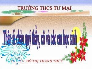 GIO VIN TH THANH THY Hai l hoa