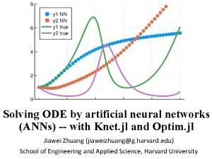 Solving ODE by artificial neural networks ANNs with