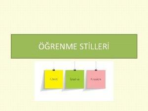 RENME STLLER renme stili bireylerin daha etkin ve