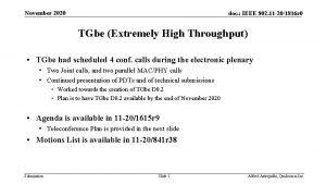 November 2020 doc IEEE 802 11 201816 r