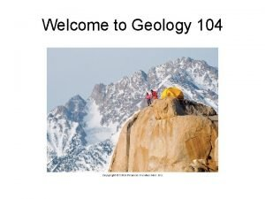 Welcome to Geology 104 Earth Science Geology Oceanography