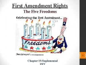 First Amendment Rights The Five Freedoms 1 Chapter