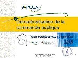 Dmatrialisation de la commande publique Association des Acheteurs