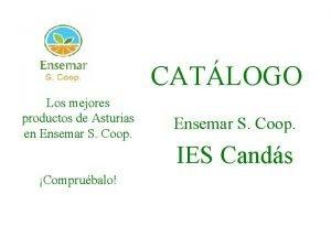CATLOGO Los mejores productos de Asturias en Ensemar