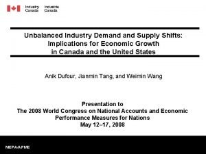Unbalanced Industry Demand Supply Shifts Implications for Economic