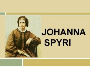 JOHANNA SPYRI ndice Biografa Obras Heidi 1 y