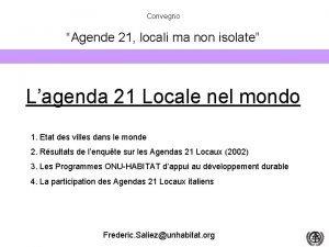 Convegno Agende 21 locali ma non isolate Bologna