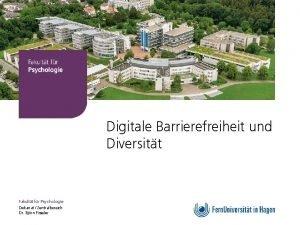 Fakultt fr Psychologie Digitale Barrierefreiheit und Diversitt Fakultt
