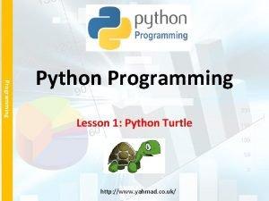 Programming Python Programming Lesson 1 Python Turtle http
