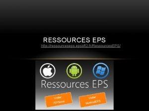 RESSOURCES EPS http ressourceseps epsoft 2 frRessources EPS