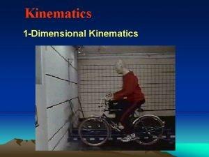 Kinematics 1 Dimensional Kinematics Average vs Instantaneous Speed