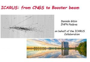 ICARUS from CNGS to Booster beam Daniele Gibin