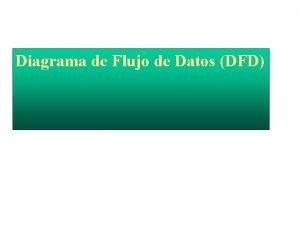 Diagrama de Flujo de Datos DFD Diagrama de