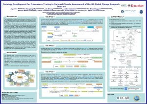 Ontology Development for Provenance Tracing in National Climate