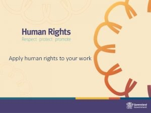 Apply human rights to your work Human Rights