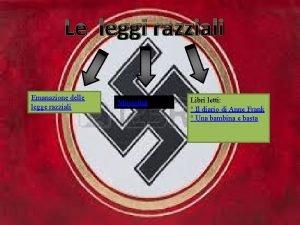 Le leggi razziali Emanazione delle legge razziali Mussolini