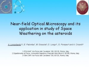 Nearfield Optical Microscopy and its application in study