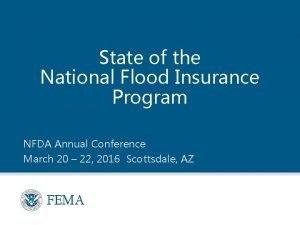 State of the National Flood Insurance Program NFDA