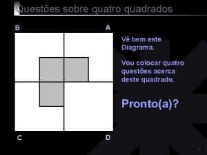 Questes sobre quatro quadrados B A V bem