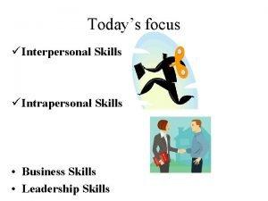 Todays focus Interpersonal Skills Intrapersonal Skills Business Skills