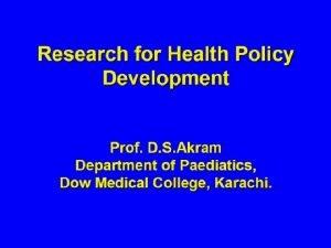 Historical Situation Analysis Pakistan Situation Analysis Contd Research