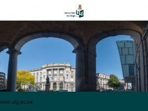 www ulg ac be ULg Belgium International Post