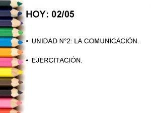 HOY 0205 UNIDAD N 2 LA COMUNICACIN EJERCITACIN