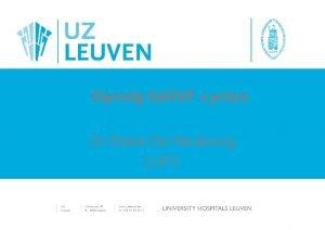 Opvolg IUIIVF cyclus Dr Diane De Neubourg LUFC
