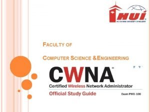 FACULTY OF COMPUTER SCIENCE ENGINEERING CONTENTS OF SYLLABUS