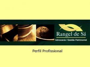 Perfil Profissional Nosso Perfil Apresentamos o nosso perfil