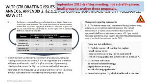 September 2015 drafting meeting not a drafting issue