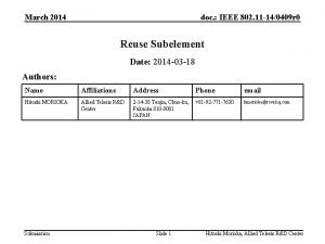 March 2014 doc IEEE 802 11 140409 r
