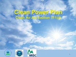 Clean Power Plan Clean Air Act Section 111d
